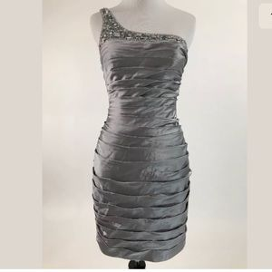 Adrianna Papell Dress Womens Size 0 One Shoulder